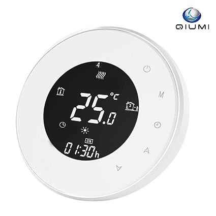 Termostato Wifi para calefacción individual de calderas de gas/agua funciona con Amazon Alexa, Google Home IFTTT, Contacto seco, 5A 5A 110v-240V