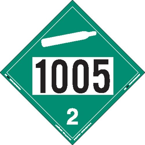Labelmaster ZT3-1005 UN 1005 Non-Flammable Gas Hazmat Placard, Tagboard (Pack of 25)