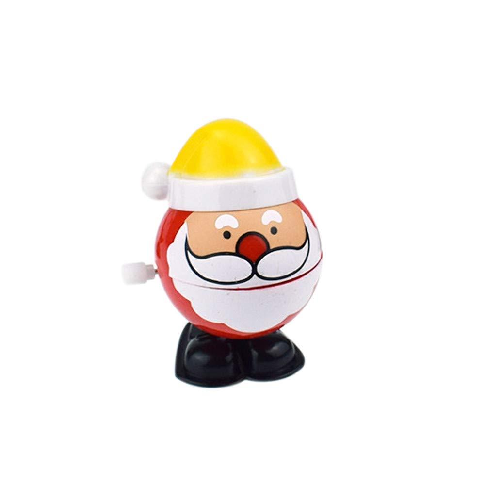 Aufziehspielzeug, Vovotrade Wind up Weihnachten Weihnachtsmann Bounce Toy Lernspielzeug Wind up Spielzeug Uhrwerk Klassische Baby Kleinkind Kinder Spielzeug Zufällige Farbe (Grün) A04R48-22-05