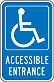 Accuform Signs FRA237RA Engineer-Grade Reflective Aluminum Handicapped Parking Sign (Federal), Legend