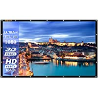 120-Inch outdoor Projector Screen PVC Fabric,16:9 Portable Projector Screen - Suitable for HDTV/Sports/Movies/Presentations (120 inch)