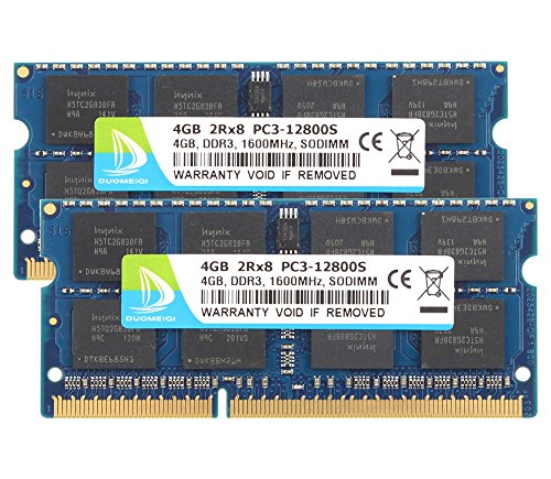1 Gb Pc 2700 Ddr Sodimm Memory (DUOMEIQI New 8GB Kit (2X 4GB) DDR3 2RX8 PC3-12800S 1600MHz 204pin 1.5v SO-DIMM Notebook Laptop Memory RAM Modules with)