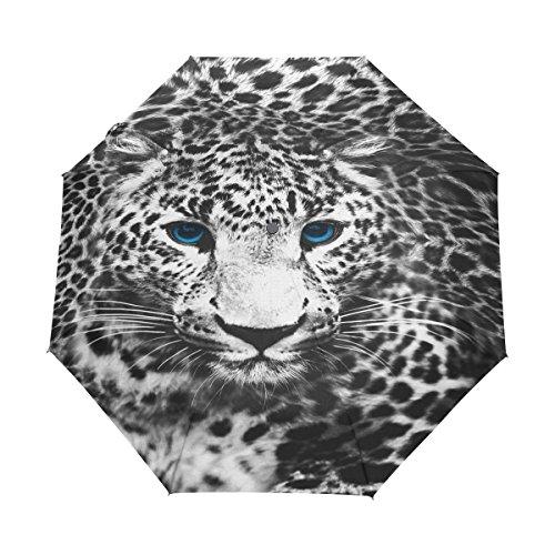 WOZO Animal Leopard Print 3 Folds Auto Open Close (Animal Print Umbrella)