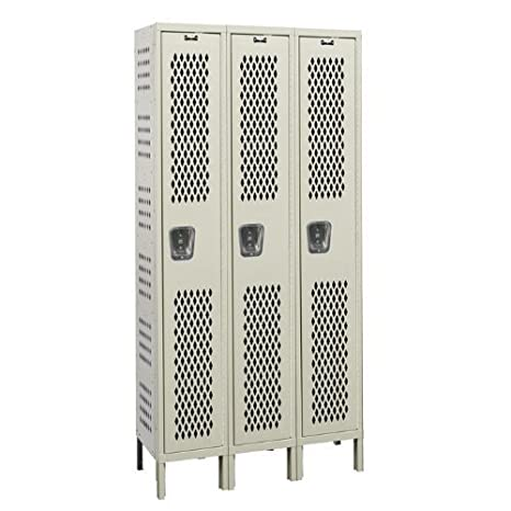 Amazon.com: Hallowell Heavy-Duty ventilados 1-tier Locker ...