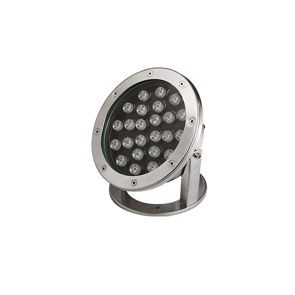 Pinjeer 24W Led Ultra Bright Rotatable In-ground Light Stainless Steel Underwater Light Modern IP68 Waterproof Outdoor Buried Lamp Path Way Landscape Fountain Pool Decorative Underground Light