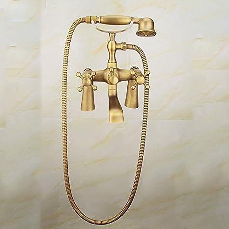 Grifos de lavabo Suministros de limpieza y saneamiento YSRBath Modernos Grifos del Fregadero del Cuarto de baño Latón Antiguo Agua fría y Agua Caliente Cocina Mezclador Grifos de Lavabo