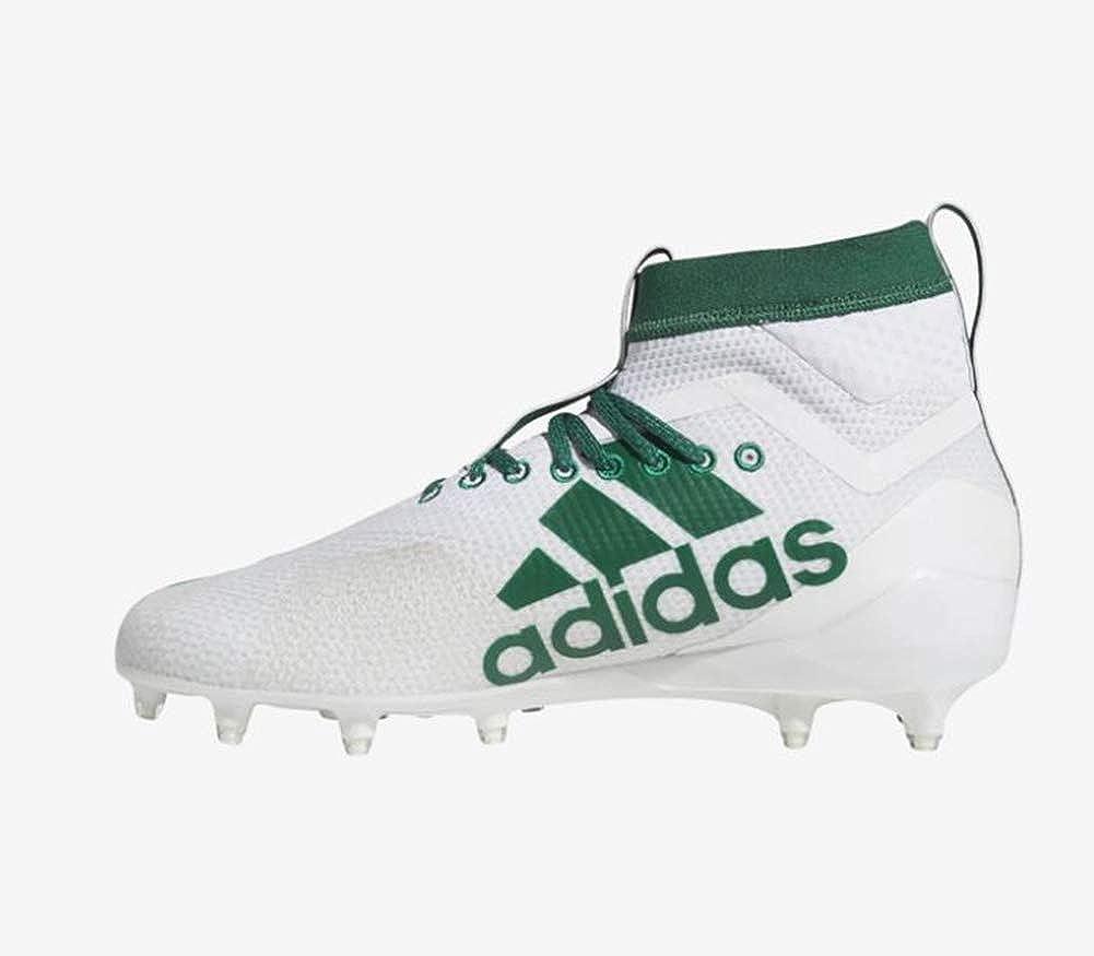 adidas mens BTE33 Adizero 8.0 Sk White Dark Green Bold Green
