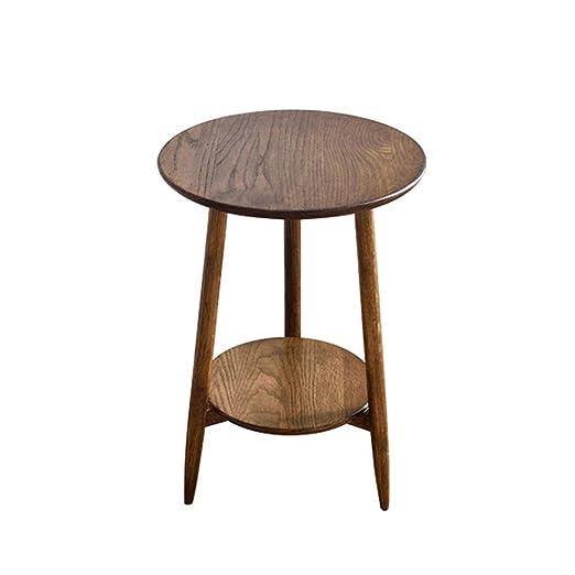 Nordic Sofá de madera maciza Mesa redonda pequeña y pequeña Mesa ...