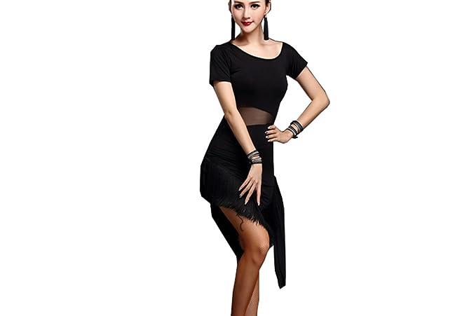 Amazon.com: Baile latino falda borla traje Servicio de ...