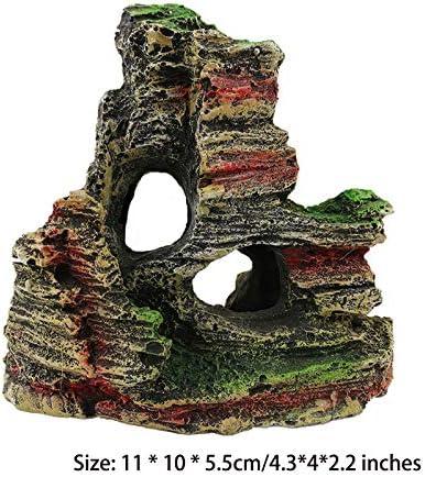 ZFFLYH Resina de Rocalla/Mountain View Acuario de Rocalla Cueva Escondite Fish Tank Árbol Decoración del Ornamento: Amazon.es: Hogar