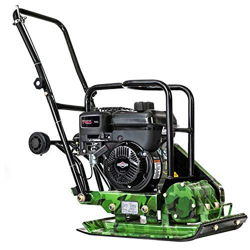 4.5 HP 163 cc BRIGGS & STRATTON XR 750 Engine Powering an Earthquake Industries Contractor Grade Plate Compactor 18 x 14