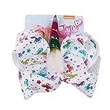 Funbase Kid Girl Unicorn Plush Hair Bow Halloween Hair Pins Cheer Bows With Clip