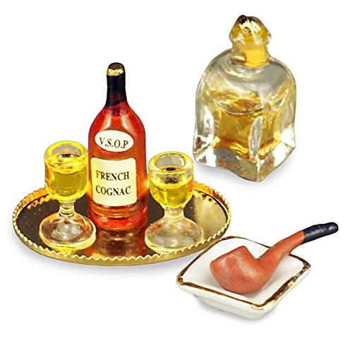 Dollhouse Evening Cognac Set Reutter Porcelain Miniature
