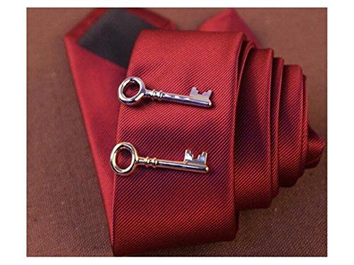 Tie Set Men Tie Elegant Bar for Bar Regular Ties XeibD for Mens Clip Vintage Classic Clip nFHwSqY