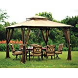 OPEN BOX 10 x 10 Bamboo Look Gazebo Replacement Canopy Top Cover- RipLock 350 For Sale