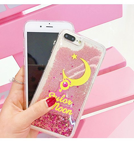 huge discount 0fb1c 94c4a Pink Glitter Flowing Case for iPhone 7+ iPhone 7Plus 8Plus Large Size 5.5