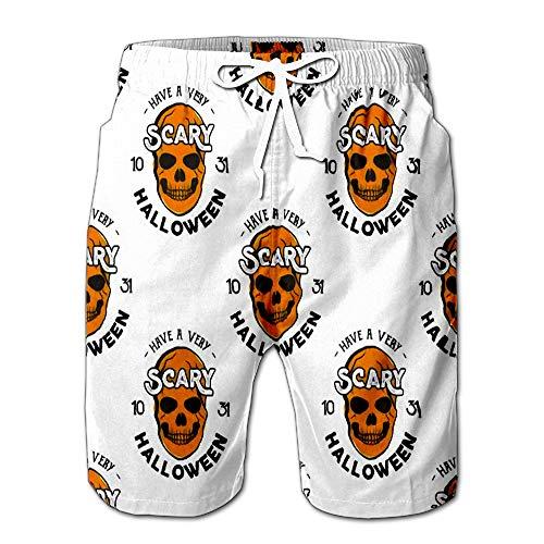 Halloween Skulls Drawstring Shorts Beach Baskestball Pants XL]()