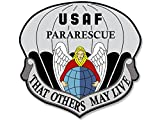 American Vinyl USAF Pararescue That Others May Live Seal Shaped Sticker (air Force)