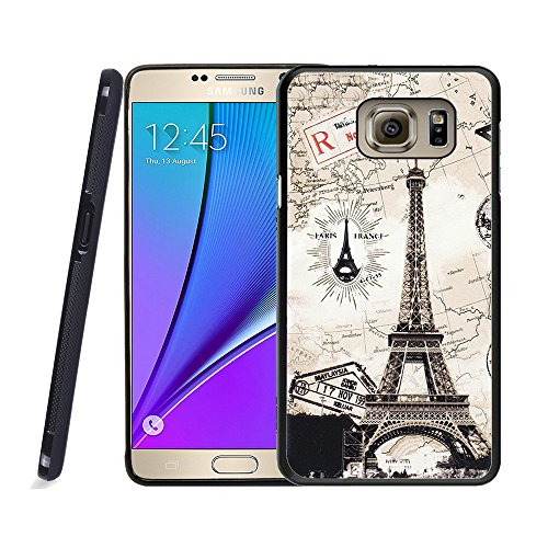 - Galaxy Note 5 Case, Samsung Note 5 Black Case, Dsigo TPU Black Full Cover Protective Case for New Samsung Galaxy Note 5 - Paris - travel destination