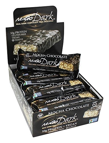 Nugo, Bar Box Dark Mocha Chocolate, 12 Count