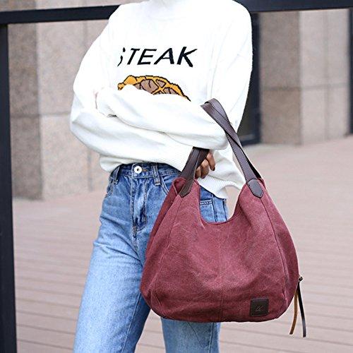 Hombro Small Handbag Bolso Morado showsing al Mujer para Blanco HpRqBn