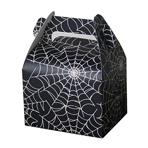Hondex Gift Boxes 25pcs Spiderweb Portable Popcorn Candy Dessert Treat Boxes for Christmas Kids Birthday Decoration]()