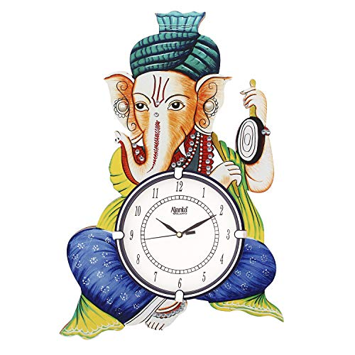 Circadian Ajanta Wall Clock for Home Living Room Office Wooden (18 inches x 13 inches)
