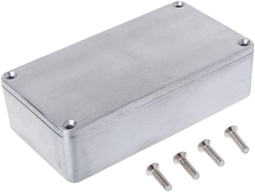 BIlinli Caja de Aluminio de Efecto Caja eléctrica de Metal Caja de Instrumentos de Guitarra DIY
