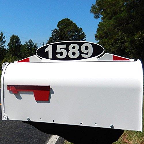 Mailbox Address Plaque, Reflective Number Plate, Mailbox Topper. Self Stick Mailbox Address Marker or hardware (Mailbox Address Topper)
