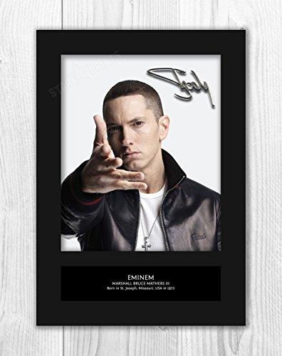 Card Autograph (Eminem MT1 - Signed Autograph Reproduction Photo A4 Print (Card Mounted))