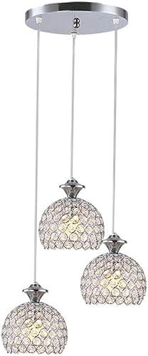 MAMEI Modern 3 Lights Dinner Room Crystal Pendant Light