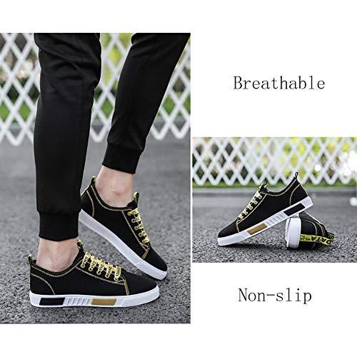 Tela Morbide Casual Passeggio Leggere In Da Uomo FHTD Comfort Piatte Yellow Scarpe Scarpe Espadrillas Sneaker E Da qt8xP78wIC