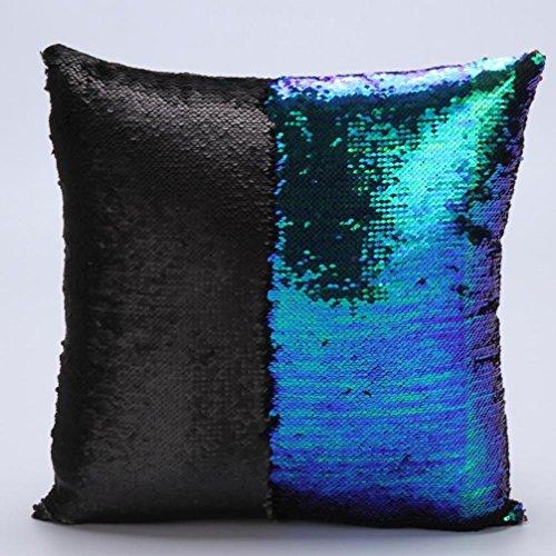 Pillow Case, Ammazona DIY Two Tone Glitter Sequins Throw Pillow Cases Sofa Car Decorative ...