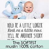 Ocean Drop Designs - White Muslin Baby Swaddle