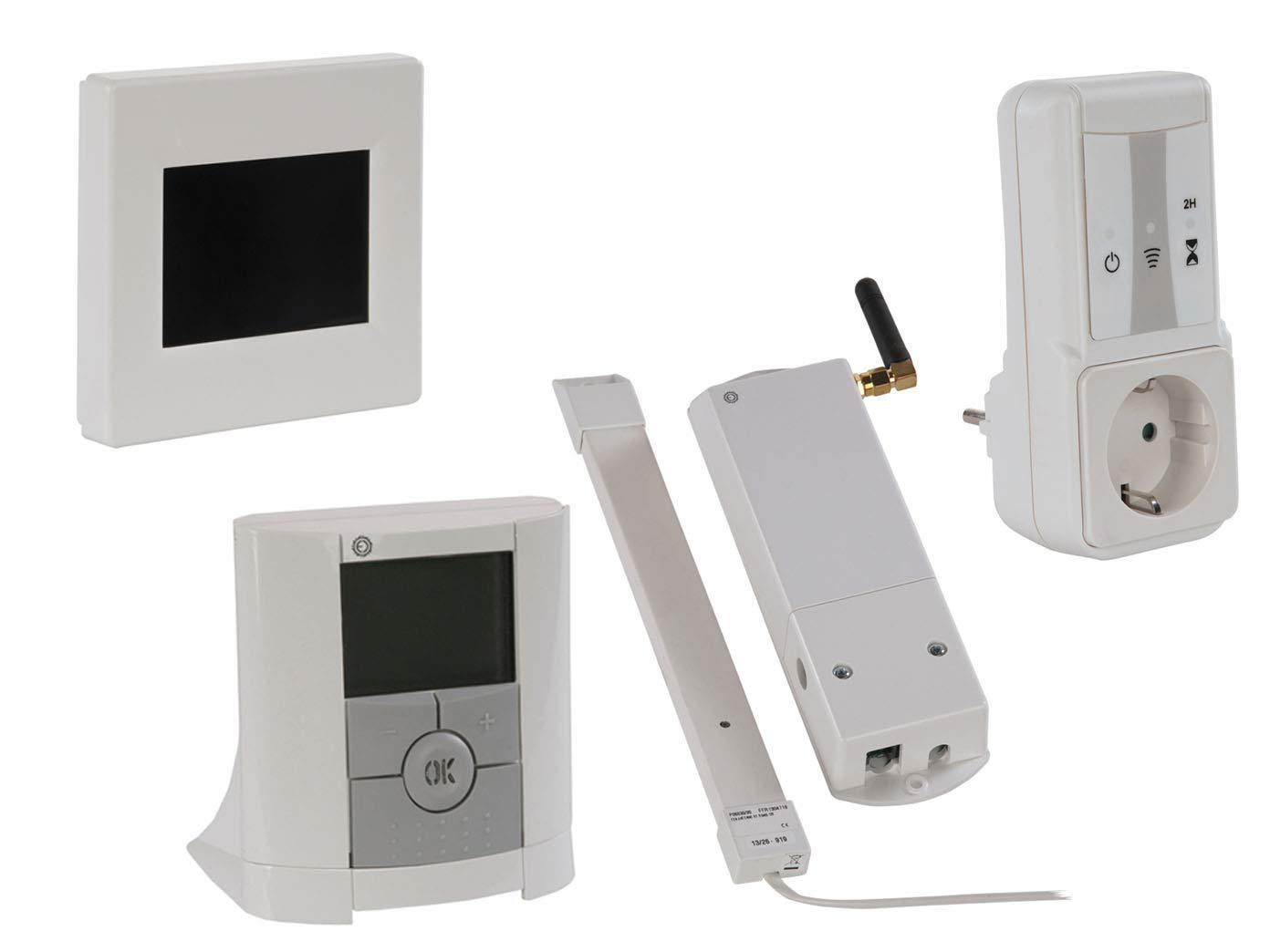Unidad Central con termostato, enchufe receptor y módulo GSM ...