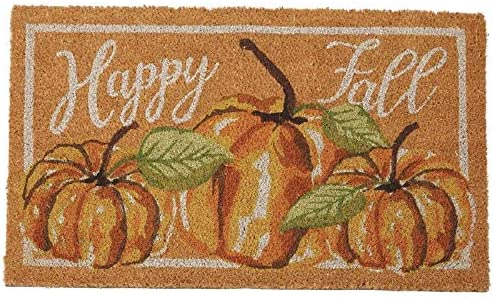 Mud Pie Halloween Watercolor Pumpkin Door Mat