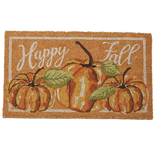 Mud Pie Halloween Watercolor Pumpkin Door Mat]()