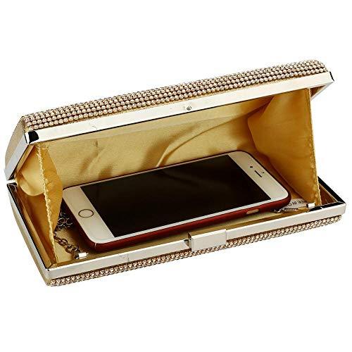 Crystal Black Wedding Rhinestone Clutch Bag for Luxury Evening Party Bridal Women Purse IBELLA 1HUFnA5