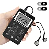 Personal Digital Tuning AM/FM Stereo Radio Portable- DSP Pocket Radio with Rechargeable Battery and Earphone for Walk