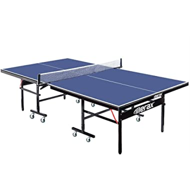 Merax. Everest Series Foldable Table Tennis Table with Net Set and Locking Wheels