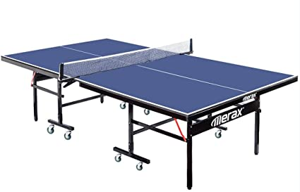 ea19babc0a8 Merax Everest Series Indoor Folding Table Tennis Table with Net Set and Lockable  Wheels
