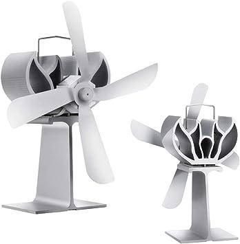 YlRNhe - Quemador de leña con 4 aspas de ventilador de estufa ...