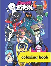 Friday night funkin fnf coloring book: Over 40 coloring pages for kids