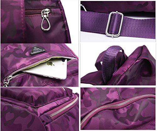 DENGXIHE - Bolso mochila  para mujer Azul