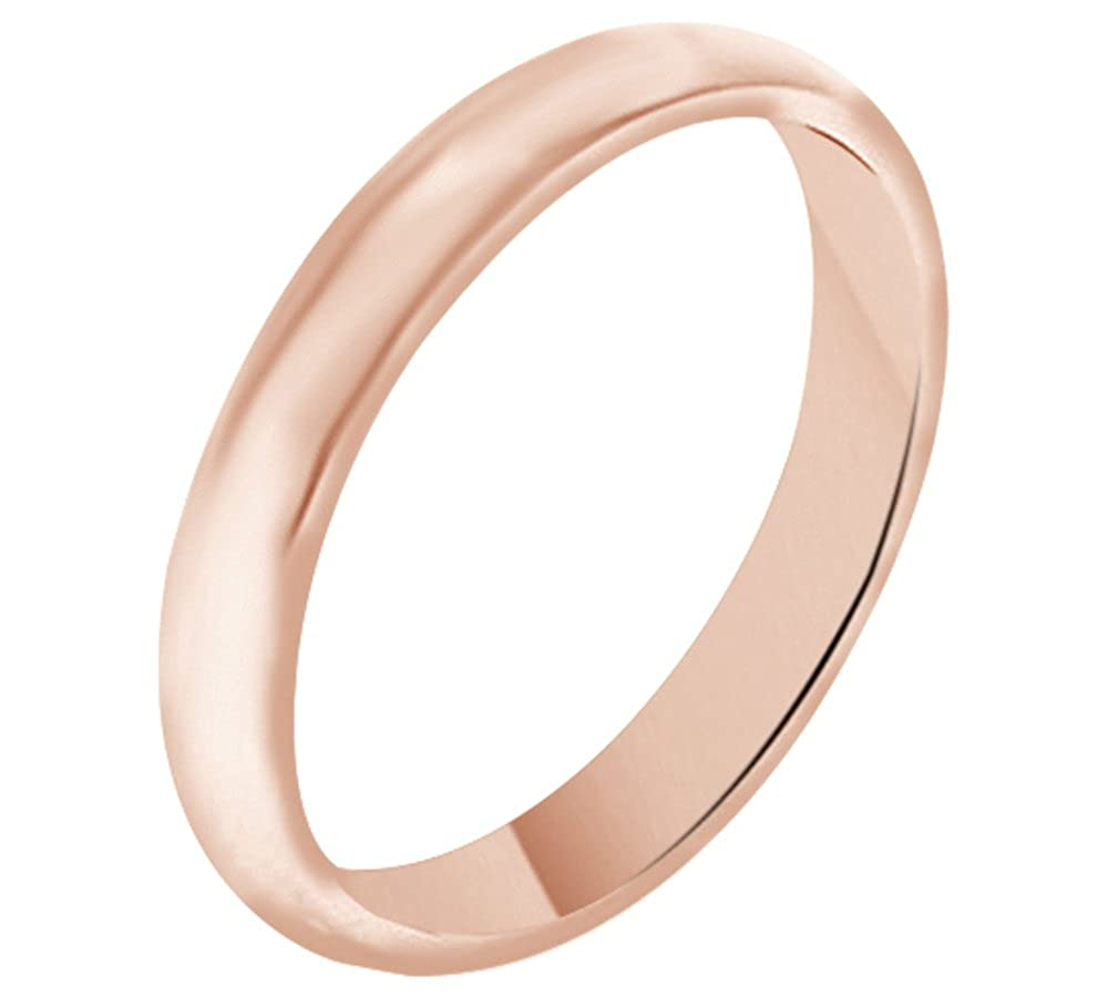Solid 14K Gold 3MM Comfort Fit Men & Women Wedding Band Ring Jewel Zone US Mno-MMR175-JZ