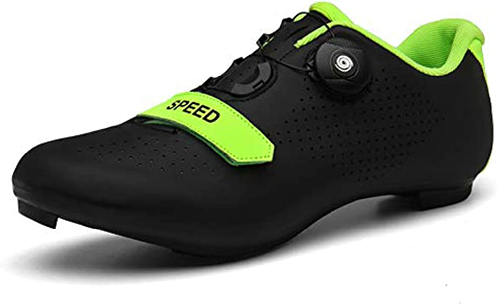 Womens Road Bike Shoes Racing Cycling Shoes Anti-Skid Road Touring Shoes with Reflective Stripes for Mountain Road Biking