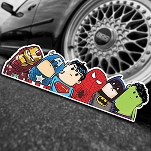 Adesivo da auto Hulk Capitan America Superman Iron Man Batman motivo supereroi Spiderman