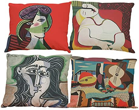 Cushion Picasso Case Cover Abstract Pillow Paintings Throw 18/'/'x18/'/' Decorative