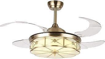 Luz de ventilador de techo de LED rústico, Habitación Lámpara de ...