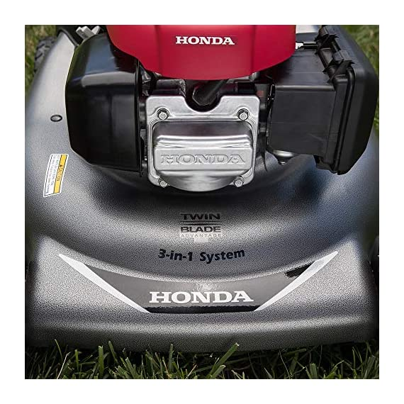 """Honda HRR216VYA 21'' 3-in-1 Self Propelled Smart Drive Roto-stop Lawn Mower with Auto Choke and Twin Blade System 4 Honda HRR216VYA 21"""" 3-in-1 Self Propelled Twin Blade Mulching Lawn Mower"""